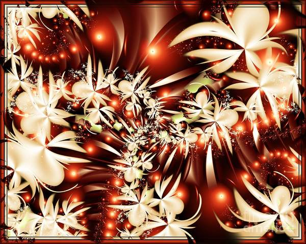 Fractal Art Print featuring the digital art Luscious by Michelle H