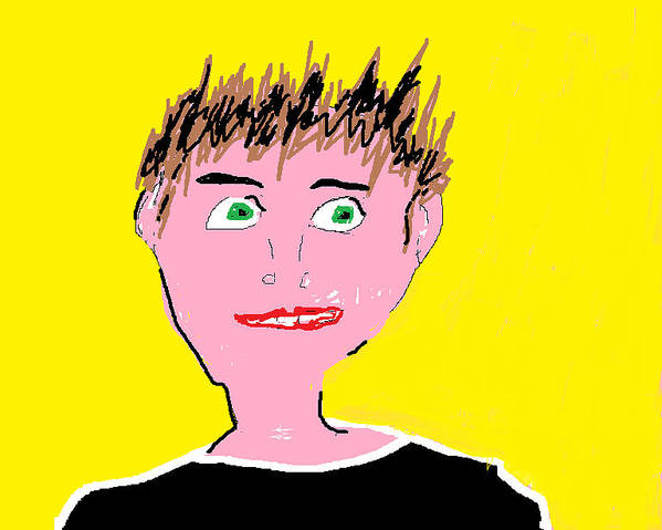 Man Art Print featuring the digital art Man Smiling by Felix Zapata