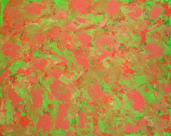 Green Art Print featuring the pastel Mint Melonly by Gema Nalen