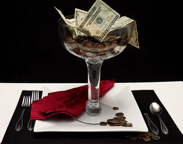 Money Art Print featuring the photograph Money Is Served by Trudy Wilkerson