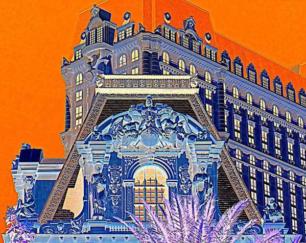 Las Vegas Art Print featuring the digital art My Vegas Paris 1 by Randall Weidner