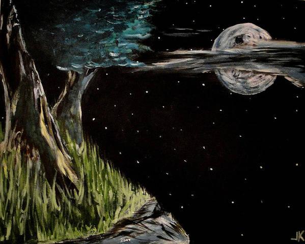 Night Art Print featuring the painting Night Sky by Jim Keller