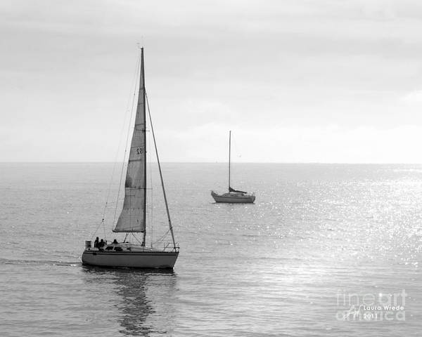 Sailing Print featuring the photograph Sailing In Calm Waters by Artist and Photographer Laura Wrede