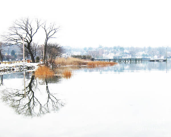 Winter Art Print featuring the photograph Shore Road Port Washington by Robin Ziegelbaum