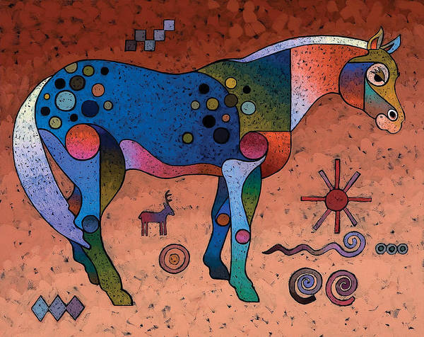 Animal Art Art Print featuring the painting Southwestern Symbols by Bob Coonts