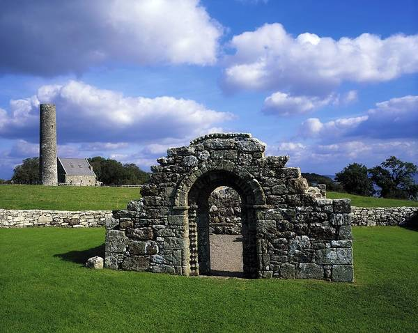 Architectural Heritage Print featuring the photograph St Brigids Church, Inis Cealtra Holy by The Irish Image Collection