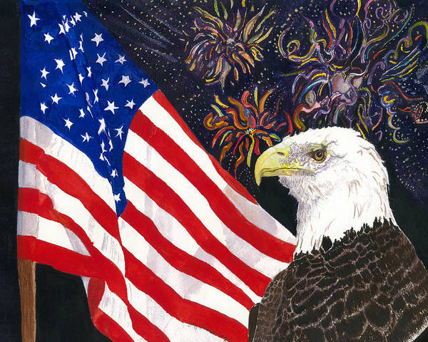 Freedom Art Print featuring the painting Still Free by Joy Braverman
