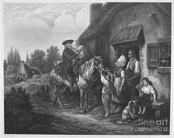 19th Century Art Print featuring the photograph The Pastors Visit by Granger