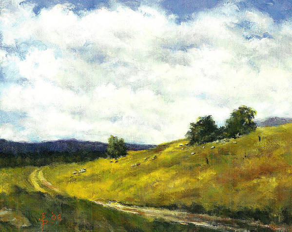 Country Art Print featuring the painting The Road Home by John Pirnak