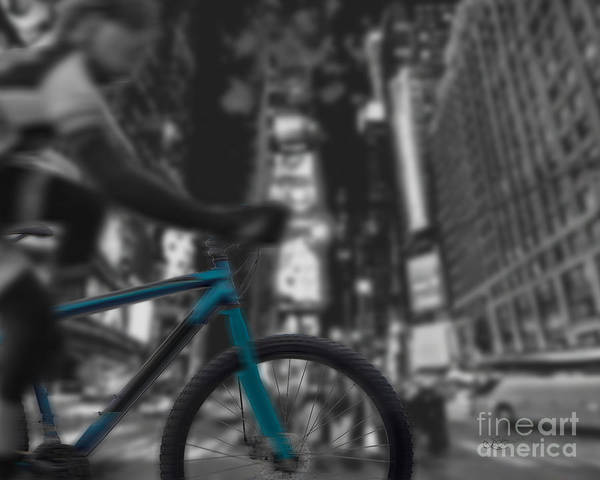 Bike Art Print featuring the digital art Touring The City by Linda Seacord