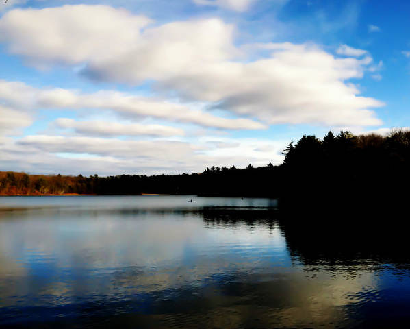 Walden Pond Print featuring the photograph Walden Pond Reverie by Frank Winters