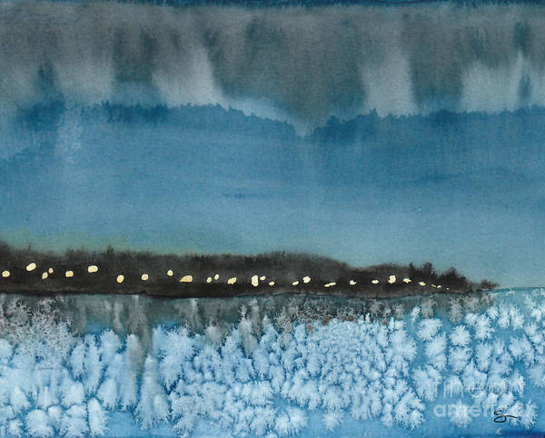 Landscape Art Print featuring the painting West Seattle by Scott Alberts