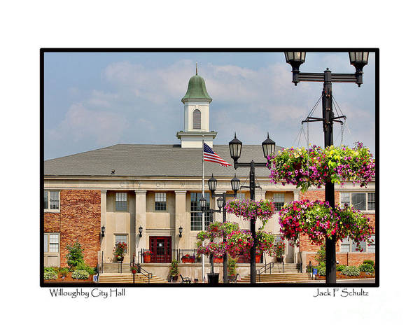 Willoughby Ohio Art Print featuring the photograph Willoughby City Hall by Jack Schultz