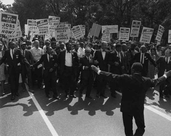History Art Print featuring the photograph 1963 March On Washington. Famous Civil by Everett