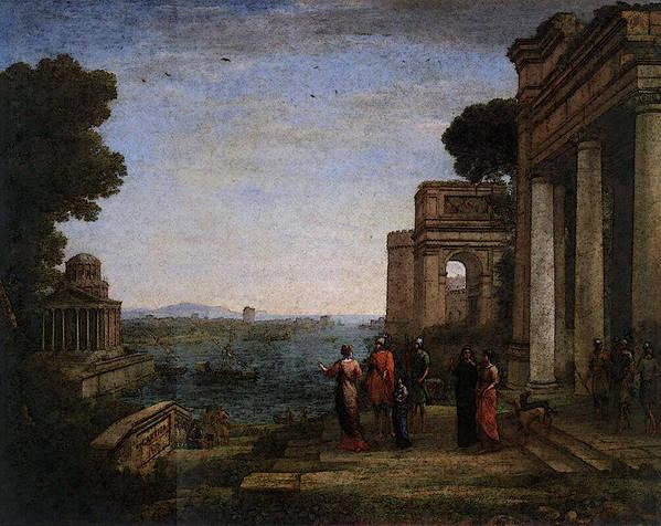 Aeneas Art Print featuring the digital art Aeneas Farewell To Dido In Carthago by PixBreak Art