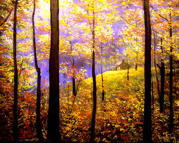 A Painting A Day Art Print featuring the painting Autumn Impression by Connie Tom