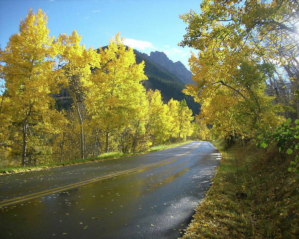 Landscape.mountains Art Print featuring the photograph Colorado Byway by Charles Shedd