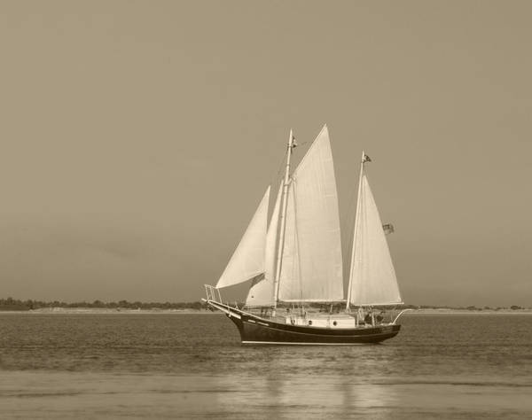 Ketch Art Print featuring the photograph Ketch - Nantucket Harbor by Henry Krauzyk