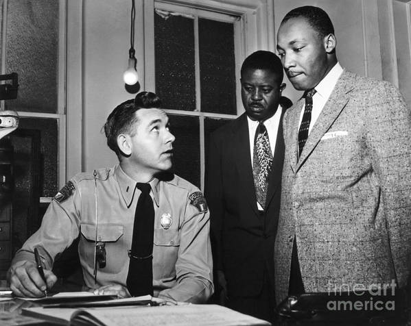 1956 Art Print featuring the photograph Martin Luther King, Jr by Granger