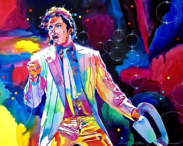 Michael Jackson Art Print featuring the painting Michael Jackson Smooth Criminal by David Lloyd Glover