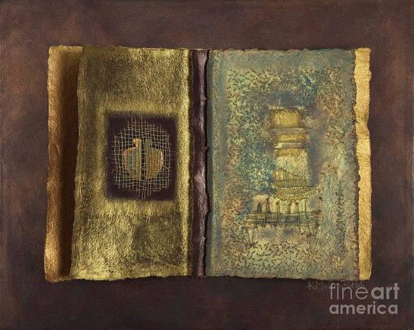 Artist-book Art Print featuring the mixed media Page Format No 1 Transitional Series by Kerryn Madsen-Pietsch