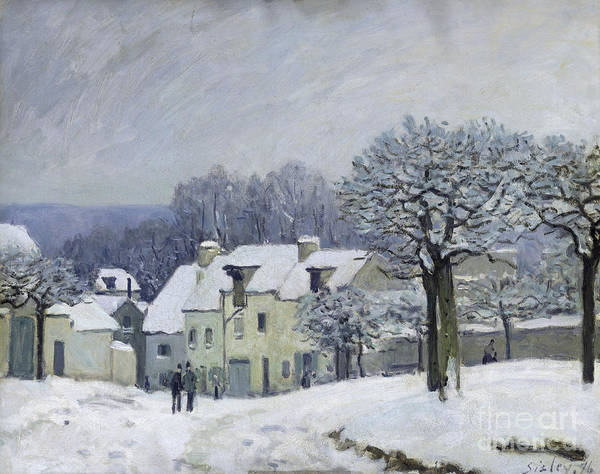 The Place Du Chenil At Marly-le-roi Art Print featuring the painting The Place Du Chenil At Marly Le Roi by Alfred Sisley