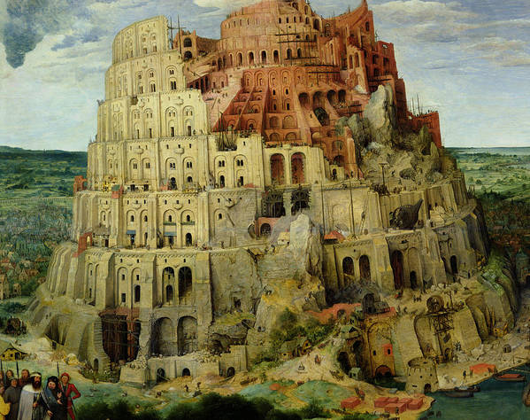 Tower Art Print featuring the painting Tower Of Babel by Pieter the Elder Bruegel
