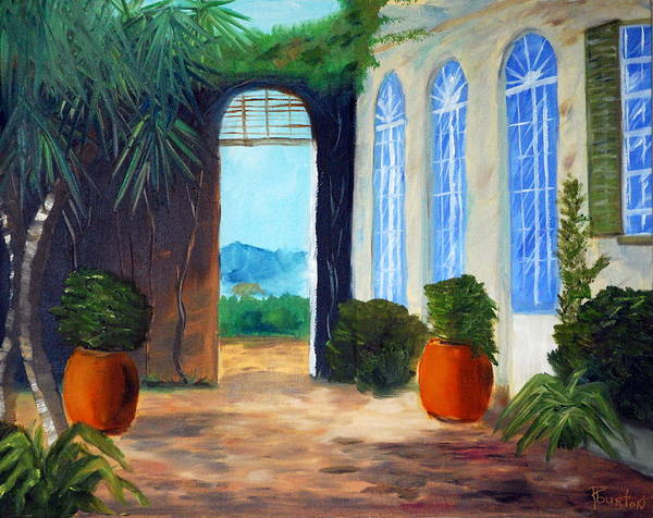 Italy Art Print featuring the painting Tuscany Court Yard by Phil Burton