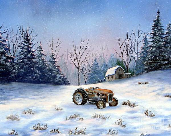 Landscape Art Print featuring the painting Winter Rest by Jerry Walker