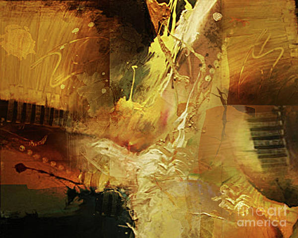Abstract Art Print featuring the painting Untitled by Angelina Cornidez