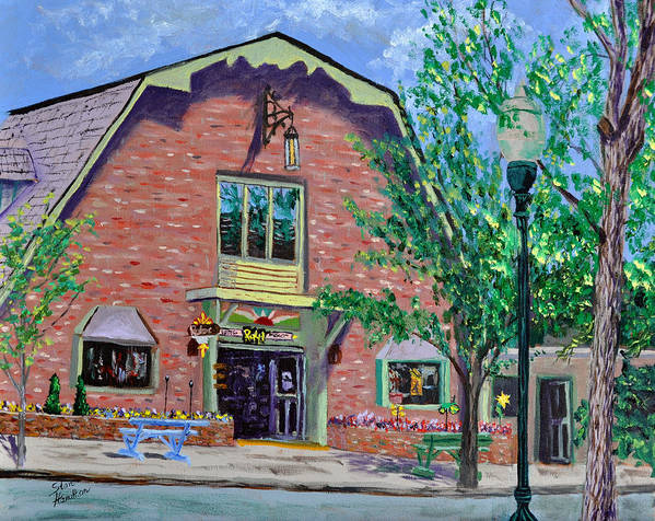 Building Art Print featuring the painting Nashville Shop IIi by Stan Hamilton