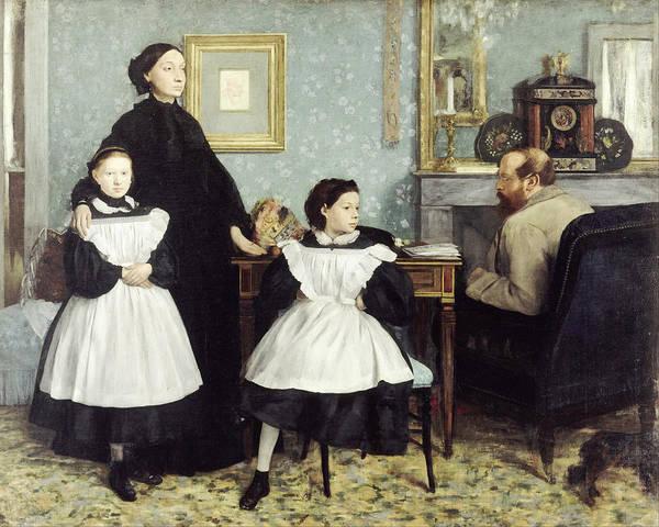 Edgar Degas (1834 - 1917) - The Bellelli Family Art Print featuring the painting The Bellelli Family by MotionAge Designs