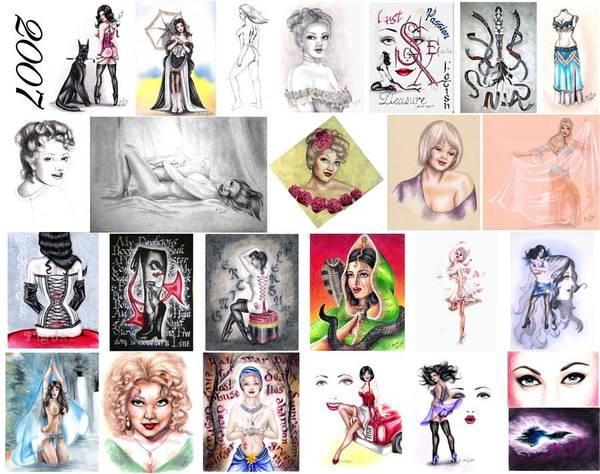Erotica Art Print featuring the digital art 2007 Works by Scarlett Royal