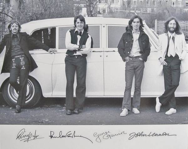 The Beatles Art Print featuring the photograph The Beatles by Donna Wilson
