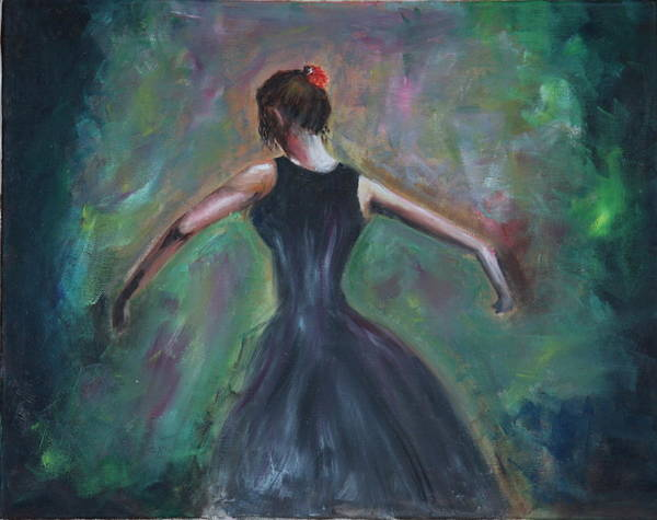 Dance Art Print featuring the painting The Dancer by Taly Bar