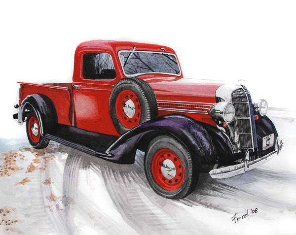 Dodge Art Print featuring the painting 36 Dodge by Ferrel Cordle