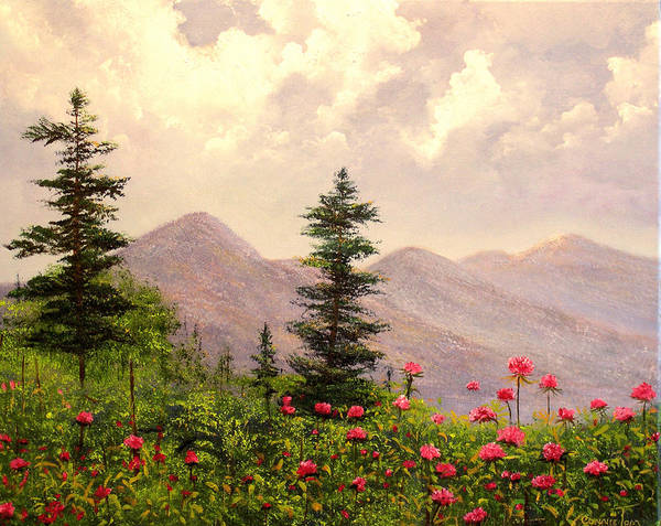 Connie Tom Art Print featuring the painting A Breath Of Fresh Country Air by Connie Tom
