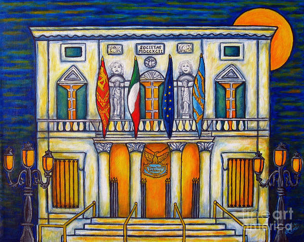 Theatre Art Print featuring the painting A Night At The Fenice by Lisa Lorenz