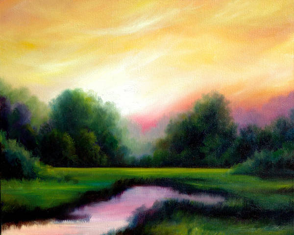 Clouds Art Print featuring the painting A Spring Evening by James Christopher Hill