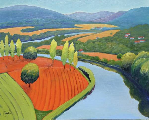 River Art Print featuring the painting Above The Lot by Gary Coleman
