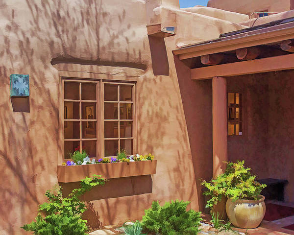 Adobe Home Art Print featuring the photograph Adobe Gallery, Santa Fe by Jack Zievis