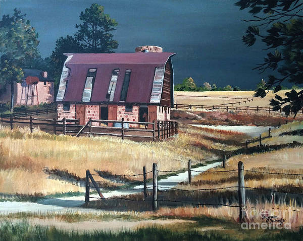 Scene Art Print featuring the painting After The Storm by Suzanne Schaefer