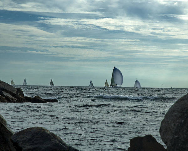 Sailboats Art Print featuring the photograph Afternoon Sail by Barry Doherty