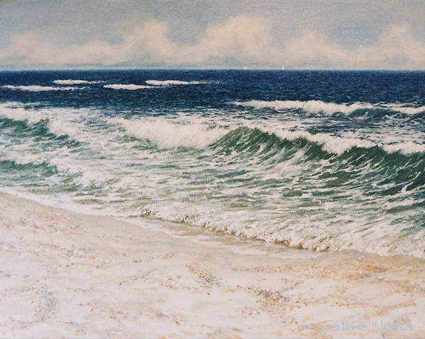 Seascape Art Print featuring the painting Alabama Coast by Steven Welch