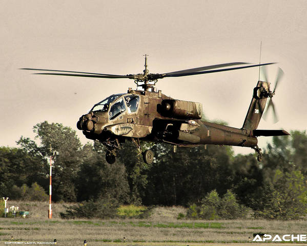 Apache Art Print featuring the photograph Apache Helicopter by Lamyl Hammoudi