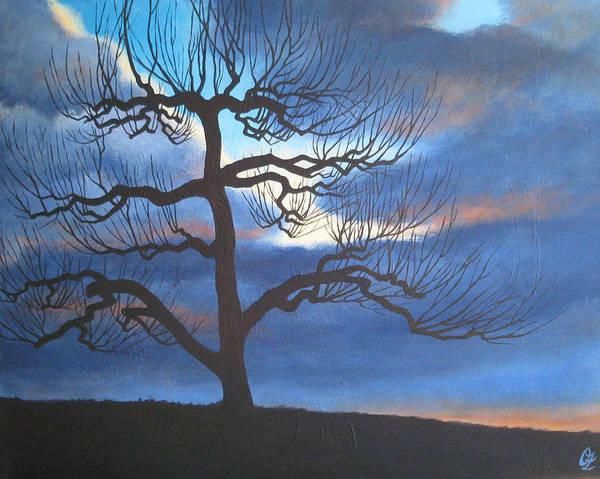 Apple Tree Art Print featuring the painting Apple Tree by Oksana Zotkina