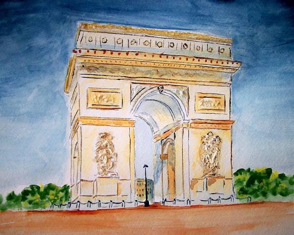Paris Art Print featuring the painting Arch De Triumph by Leo Gordon