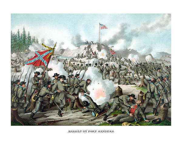 Civil War Art Print featuring the painting Assault On Fort Sanders by War Is Hell Store
