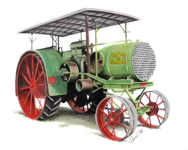 Tractor Art Print featuring the painting Aultman And Taylor Tractor by Ferrel Cordle