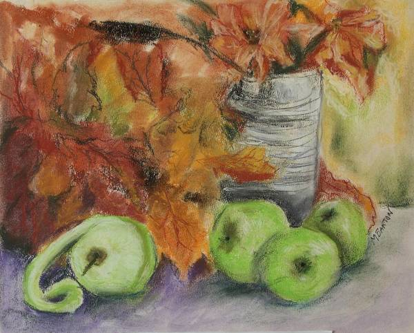 Autumn Colors Art Print featuring the painting Autumn Still Life by Marilyn Barton